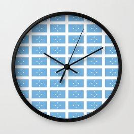 flag of micronesia -micronesian,fsm,palikir,weno,yap,chuuk,pohnpei,kosrae Wall Clock