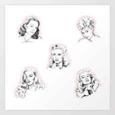 Vintage Lovelies Art Print