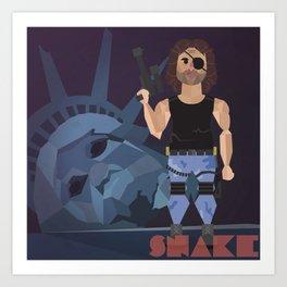 """Carpenter Series: Snake """"Escape From New York"""" Art Print"""