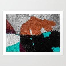 Abstract Dinosaur Art Print