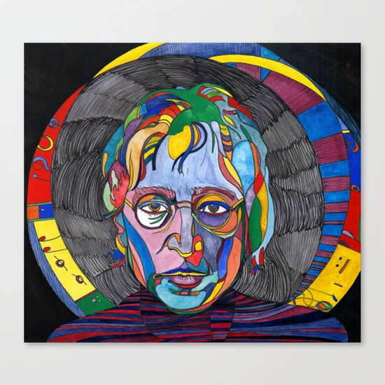 Psychedelic Lennon Canvas Print