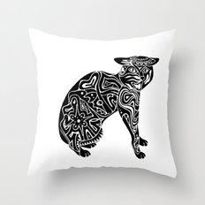 Artcat Throw Pillow