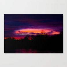 A Sunset in February Canvas Print