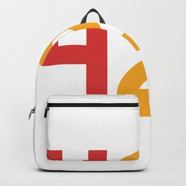 420 Typography (Rasta Colours) Backpack