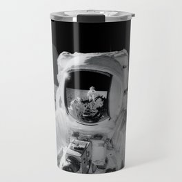 Apollo 12 - Face Of An Astronaut Moon Selfie Travel Mug
