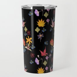Dark Floral Garden Travel Mug