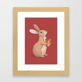 Gift Bunny Framed Art Print