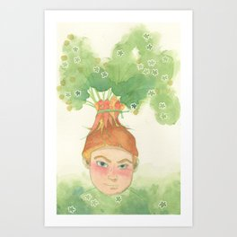 King of Carrot Flowers Art Print