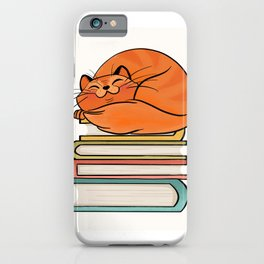 With Books And Cats Life Is Sweet iPhone Case