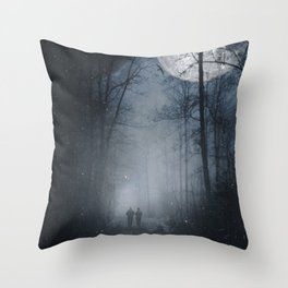 moon walkers Throw Pillow
