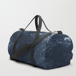 Navy Marble Duffle Bag