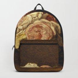 Henri Fantin-Latour - Roses In A Bowl Backpack