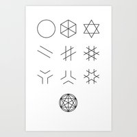 The Story of Geometry Art Print