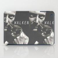 christopher walken iPad Cases featuring Christopher Walken / Cat by Earl of Grey