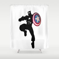 captain hook Shower Curtains featuring Captain by Crayle Vanest