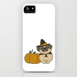 Pug-kin Patch Witch iPhone Case