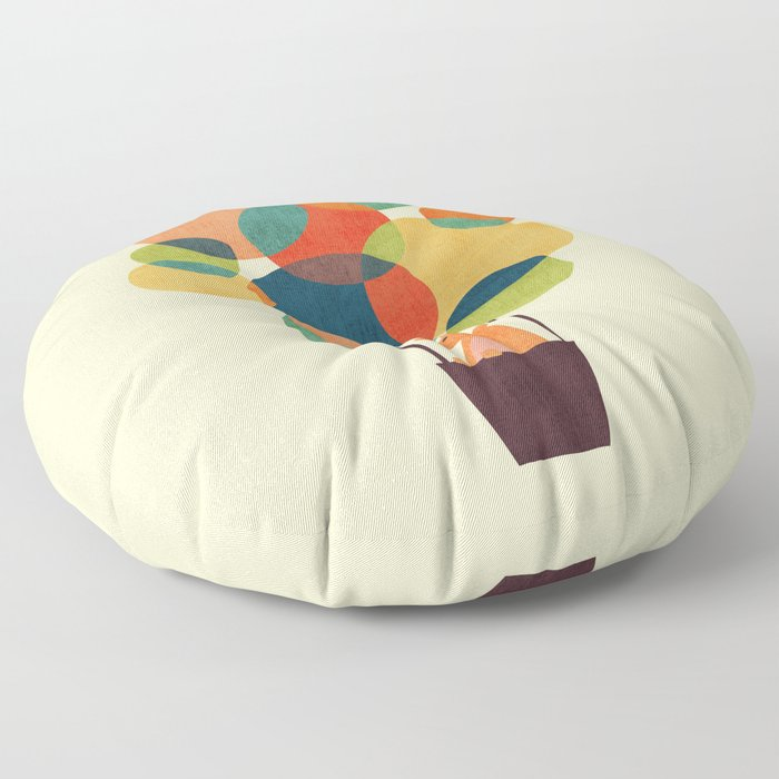 Whimsical Hot Air Balloon Floor Pillow