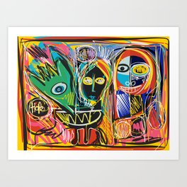 Hope with Cool Creatures in a Graffiti Style Art Art Print