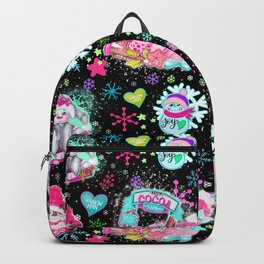 Colorful Snowman Pattern Backpack