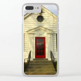 Red Door Clear iPhone Case