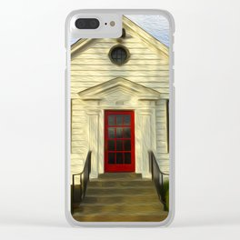 Red Door Clear iPhone Case