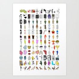 Letterpress Collection #01 Art Print