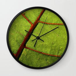 Leaf Veins II Wall Clock