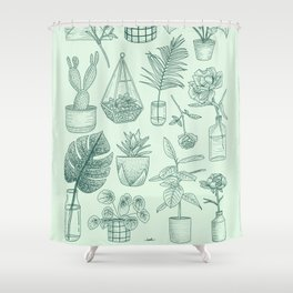 PLANTS LOVER Shower Curtain