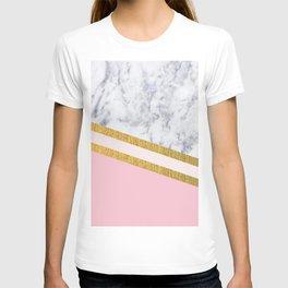 St Lucia striped blush marble T-shirt