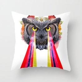layzer owlz Throw Pillow