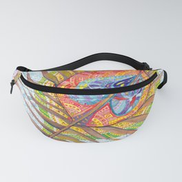 Peacock feather pattern Fanny Pack