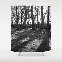 Railway Trees Shower Curtain