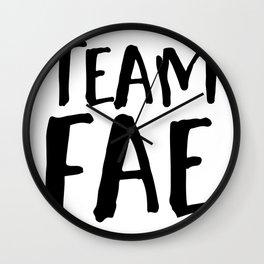 Team Fae Wall Clock