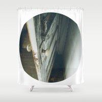 door Shower Curtains featuring door by MARONEY