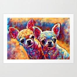 Chihuahua Bros Art Print