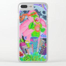 Celestial Scraper Clear iPhone Case