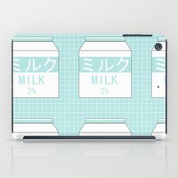 milk iPad Cases featuring Milk by Lazy Queen