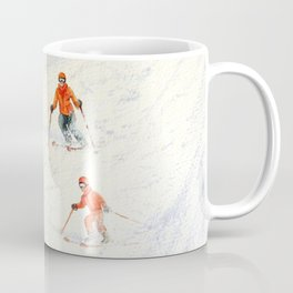 Skiing Family On The Slopes Coffee Mug