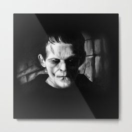 THE MONSTER of FRANKENSTEIN - Boris Karloff Metal Print