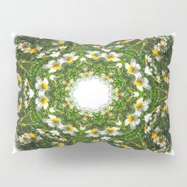 Little White Wildflower Kaleidoscope Art 1 Pillow Sham
