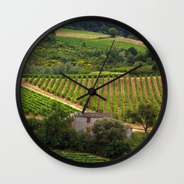 landscape in southern france 2 Wall Clock