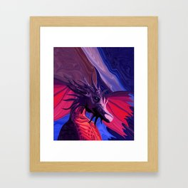 Jewel Toned Dragon of the Amethyst and Ruby Caverns Framed Art Print