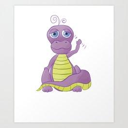 Purple Dino Art Print