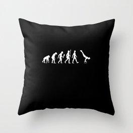 Funny Calisthenic Evolution Exercises Gift Idea Throw Pillow