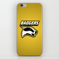 hufflepuff iPhone & iPod Skins featuring Badgers Hufflepuff  by Fresco Umbiatore