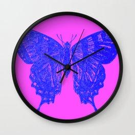 Neon Pop Butterfly  Wall Clock