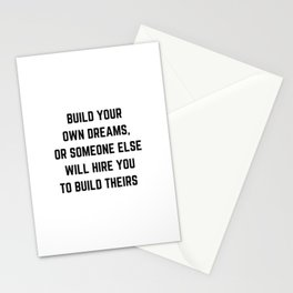 BUILD YOUR OWN DREAMS Stationery Cards