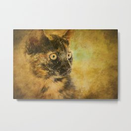 The Witch's Familliar Metal Print