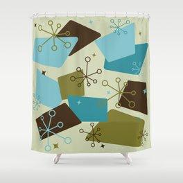 Mid Century Modern Futuro (teal) Shower Curtain