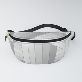 Gray Stripes Fanny Pack